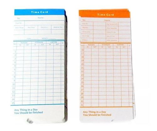 set 500 tarjetas reloj control asistencia / envío gratis!