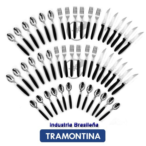 set 55 piezas ipanema cubiertos + cuchilleria tramontina