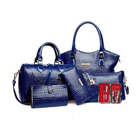 Set 6 Bolsas Estampada Mano Hombreo Dama Mujer Cosmetiquera