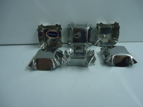 set 6 moldes de tarteletas 6cm cuadrados ac inox  saladitos