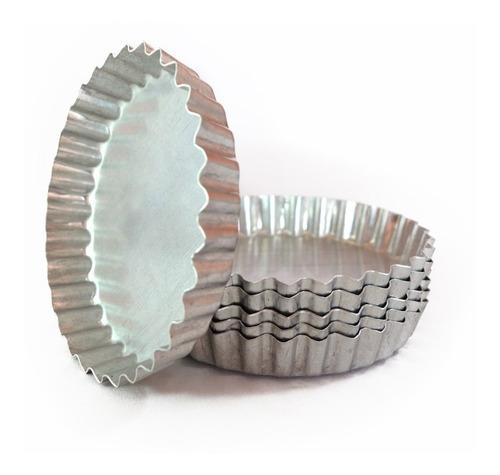 set *6 moldes tartaletas mini tartera aluminio nº10