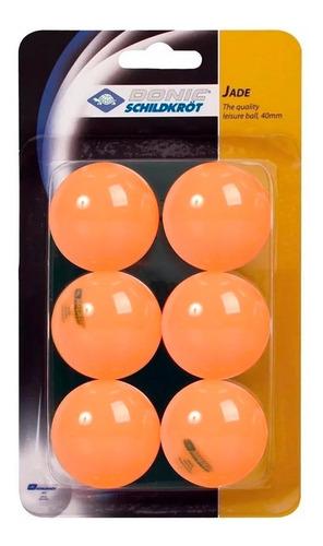 set 6 pelotitas de ping pong donic jade doble tt germany