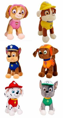 set 6 peluches patrulla canina 22cm muñecos