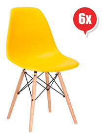 Clasicas Colores Eames Muebles 6 Dsw Metinca Sillas Set wPkN0OXZ8n
