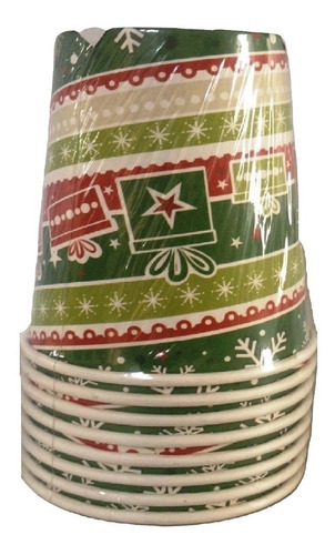 set 64 vasos navidad regalos parafinado de 8 onzas