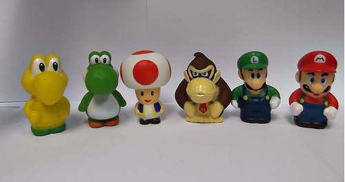 set 6pz mario bross y sus amigos muñecos 7cm juguete niños