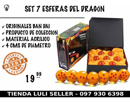 set 7 esferas del dragon, originales ban dai de colección