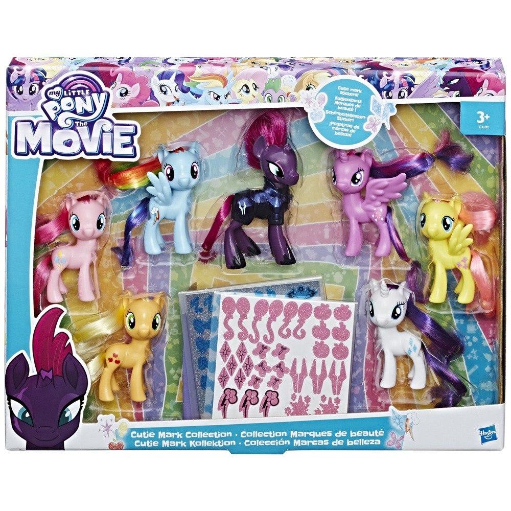 cd20c64e60c Set 7 My Little Pony Movie Coleccion Rarity Tempest + Envio ...