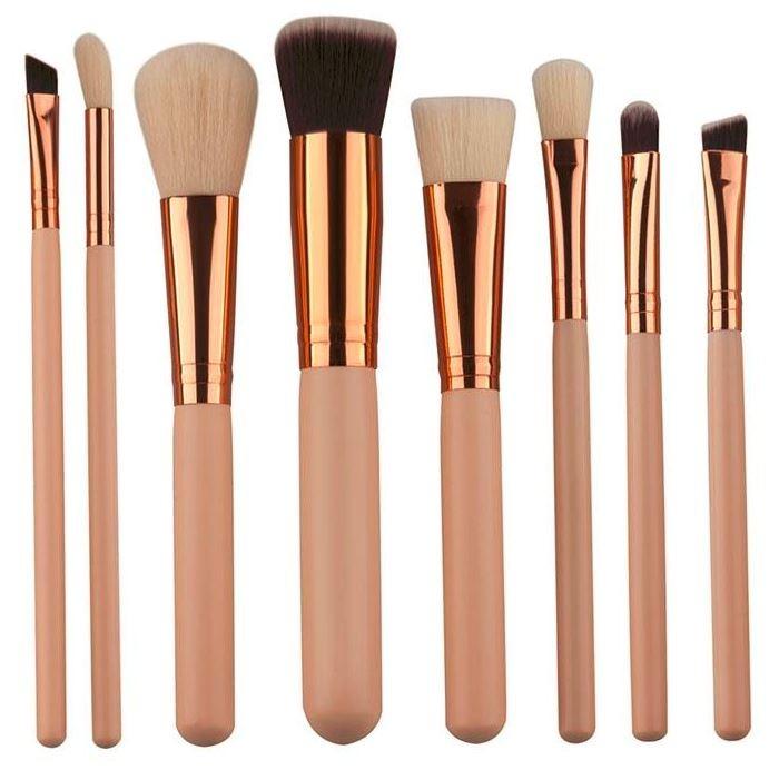 3c32274eb Set 8 Brochas Pinceles Maquillaje Ojos Y Rostro - $ 220.00 en ...