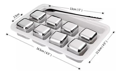 set 8 cubos acero inoxidable para enfria bebida enviogratis