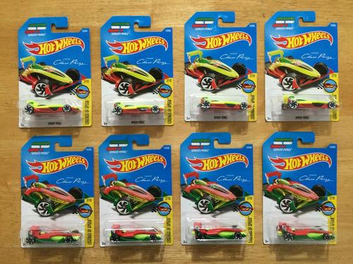 set 8 hot wheels sergio checo speedy pérez # 23 y 119