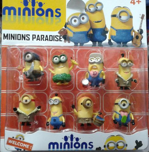 set 8 muñecos mi villano favorito - minions super oferta!!!