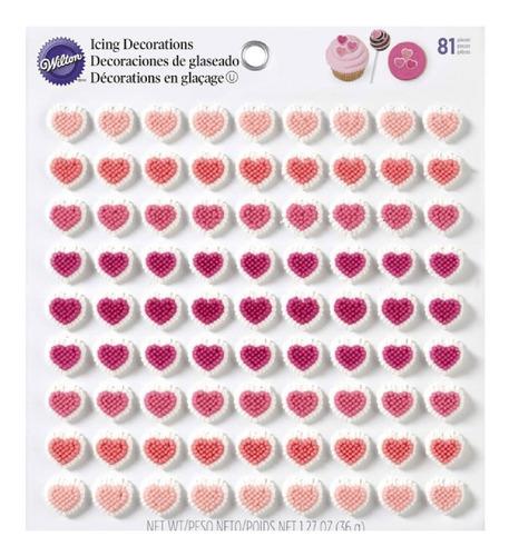set 81 corazones glaseado wilton original 710-0233 sprinkles