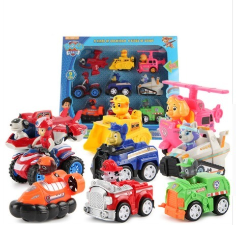 set 9 carros paw patrol patrulla canina juguetes chase rocky en mercado libre. Black Bedroom Furniture Sets. Home Design Ideas