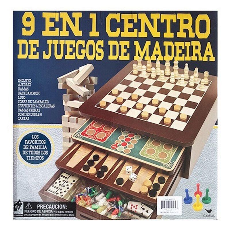 Set 9 En 1 Centro De Juegos De Mesa Clasicos De Madera 1 049 00