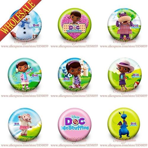 set 9 pins prendedores doctora juguetes fiesta! nuevo