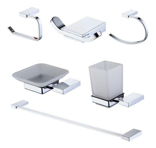 set accesorios baño peirano linea 13000 6 piezas metalico