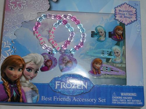 set accesorios frozen anna elsa disney! nuevo