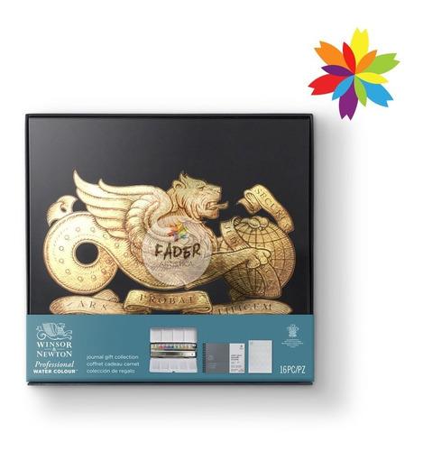 set acuarelas winsor profesional journal gift collection
