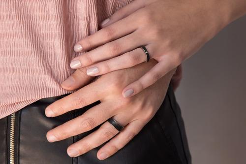 set alianzas de titanio y concreto casamiento boda ah6