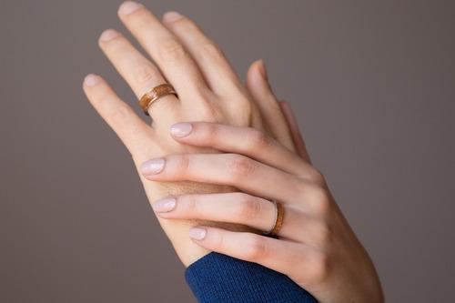set alianzas de titanio y madera anillo casamiento boda ac6