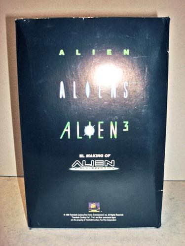 set alien saga trilogia vhs + making off alien resurrection