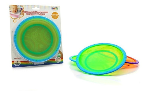 set alimentacion platos antideslizantes x 3  baby innovatio