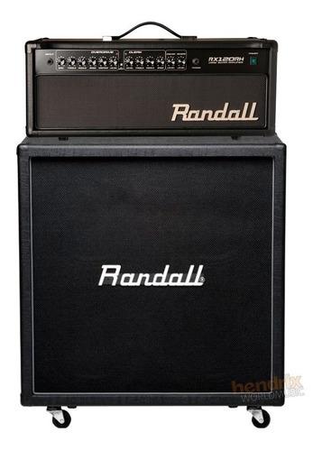 set ampli cabeçote + caixa guitarra randall rx-120 120 watts