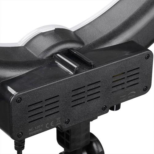 set aro de luz retrato 5500k + base de cámara + trípode