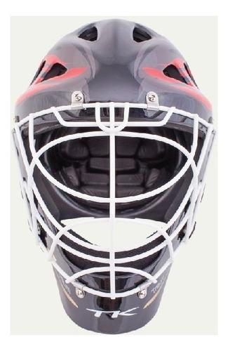set arquero tk hockey pads guantes bermudas + casco arquera