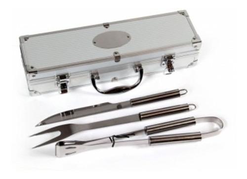 set asador maletin aluminio - set de asado 3 piezas