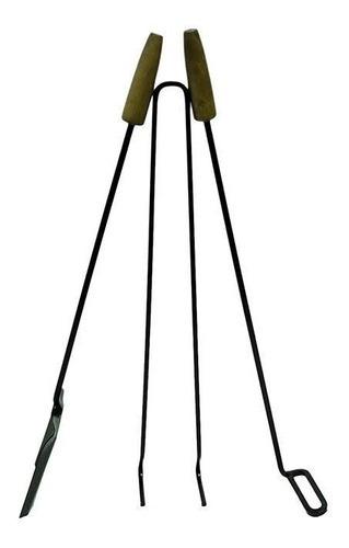 set asador/parrillero pala-atizador-pinza fuxion