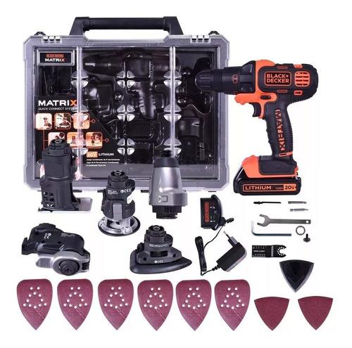 set atornillador herramientas black decker matrix 20v 6 en 1