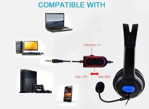 set audifono microfono ps4 + cargador joystick / liquidacion