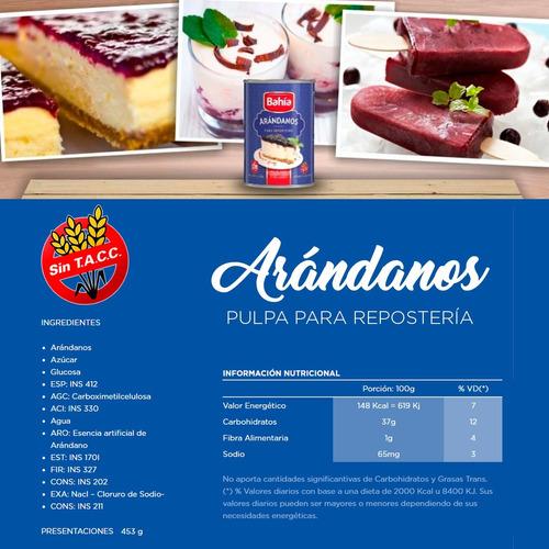 set bahia repostería frutillas arandanos maracuyá + molde