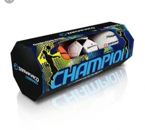 set balones basket futbolito voleibol tamanaco triple accion
