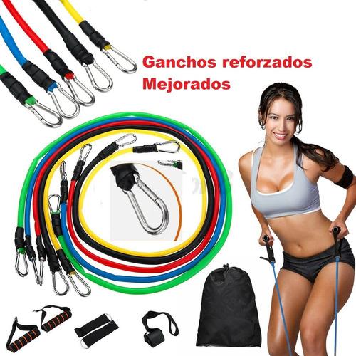 set bandas elasticas de resistencia 11 piezas latex fitness