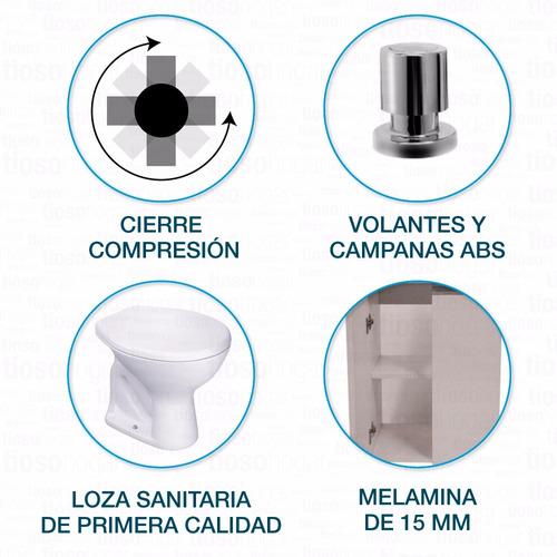 set baño completo muebles griferias sanitarios accesorios