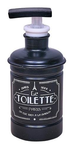 set baño vintage dosificador, escobilla, porta, cesto bla/ne
