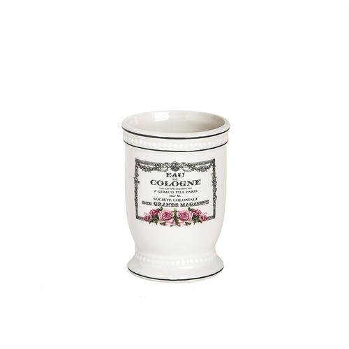 set baño x3 porcelana dispenser, jabonera y vaso cologne