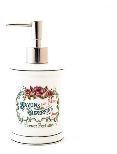 set baño x3 porcelana dispenser, jabonera y vaso savons