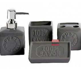 3b04db824e12 Set Baño X4 Cerámica Dispenser Cuadrado Caja Envio Baztelmo