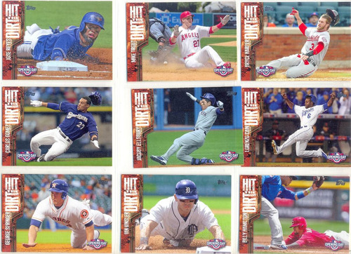 set barajitas beisbol topps opening day hit the dirt 2015