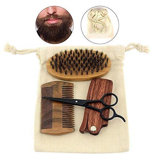 set barba pawaca cepillo, tijeras, peine, peine plegable.