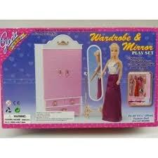 set barbie gloria ropero con espejo nuevo wardobe & mirror.