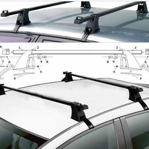 set barras porta equipaje parrilla autos jeeps universal