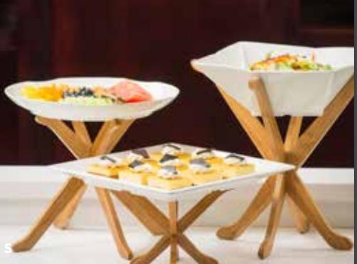set bases de madera para platos botaneros buffet decoracin