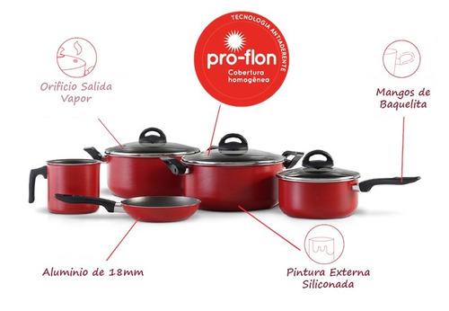 set bateria cocina brinox 8 piezas envio gratis metinca