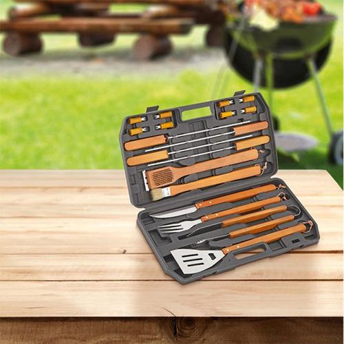 set bbq con maletín beefmaker de 18 piezas