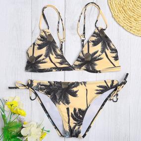 fe2d3a306cbc Set Bikini Mujeres Cintura Bajo Impresión Árbol Acolchado